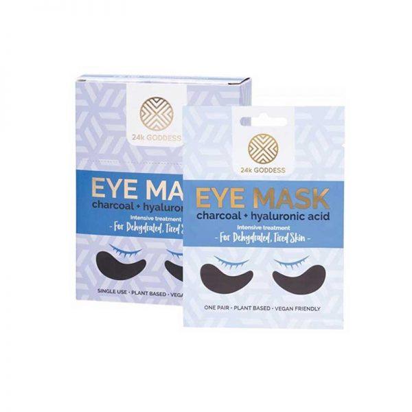 24K Goddess Tired Eyes Charcoal and hyaluronic acid intensive eye treatment mask