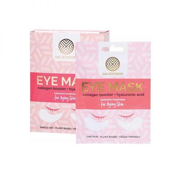 24K Goddess Collagen booster and hyaluronic acid anti-aging eye mask