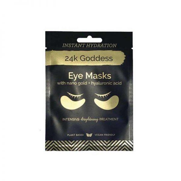 24K Goddess Active Gold Eye Mask, intensive brightening treatment eye mask