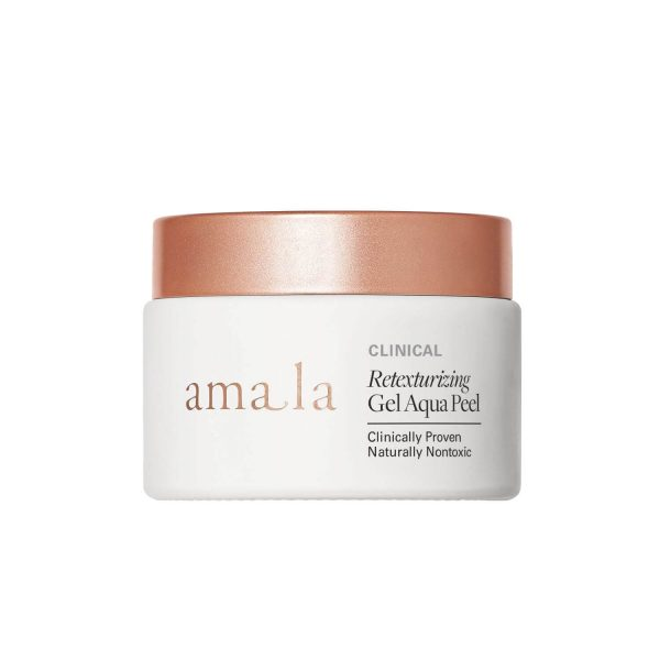 amala retexturising gel aqua peel, natural exfoliating and refining facial mask