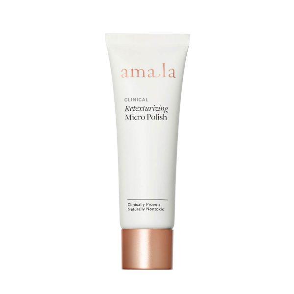 amala retexturising micro-polish, certified natural facial exfoliant scrub