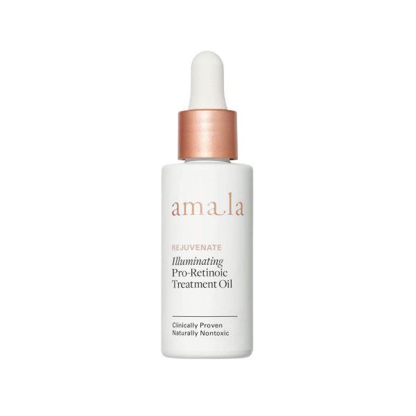 amala rejuvenate illuminating pro-retinoic treatment oil, certified natural retinol alternative