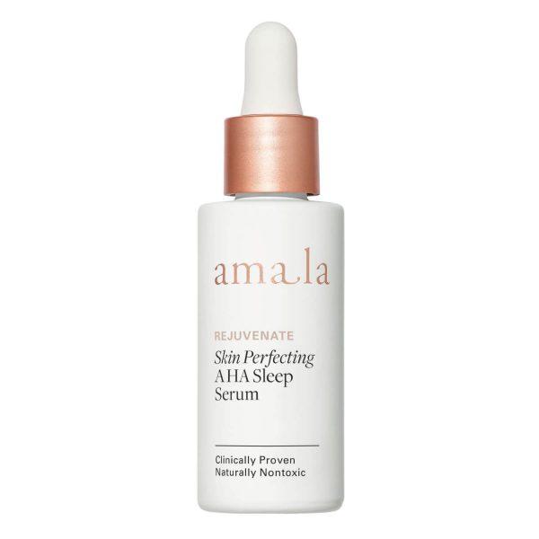 amala rejuvenate skin perfecting AHA sleep serum, natural fruit AHA facial serum