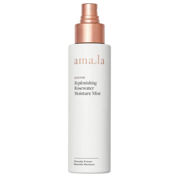 amala soothe replenishing rosewater moisture mist natural hydrating facial toner mist for sensitive skin