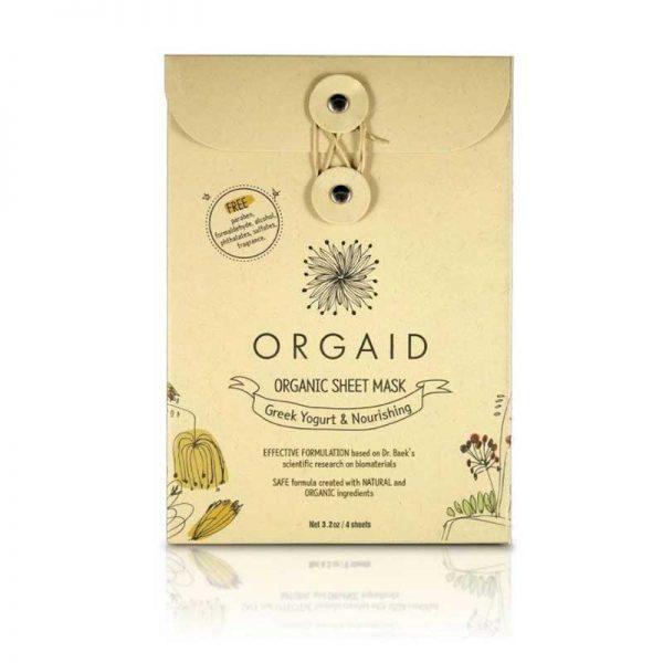 ORGAID Greek Yoghurt and Nourishing Organic Sheet Mask pack