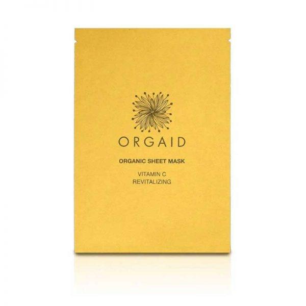 ORGAID Vitamin C and Revitalising Organic Sheet Mask