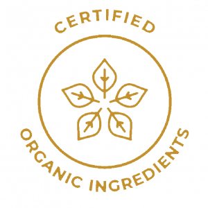 Formulated with ingredients certified organic  by recognised organisations