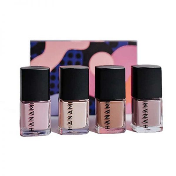 hanami cosmetics nail polish mini pack mocha boxed