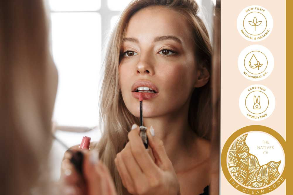 barely there makeup with natural mineral powder